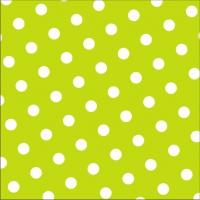 30 Servietten 33x33 cm - Dots limonengrün