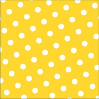 30 Servietten 33x33 cm - Dots gelb