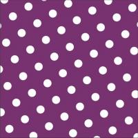 30 Servietten 33x33 cm - Dots lila