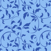 30 Servietten 33x33 cm - Ornamental Leaves blau