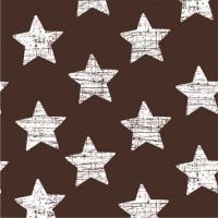 30 Servietten 33x33 cm - Vintage Stars braun