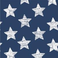 30 Servietten 33x33 cm - Vintage Stars blau