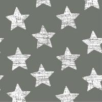 30 Servietten 33x33 cm - Vintage Stars grau