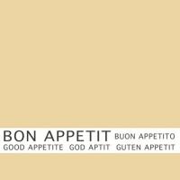 30 Servietten 33x33 cm - Bon Appetit creme