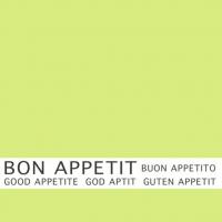 30 Servietten 33x33 cm - Bon Appetit limonengrün