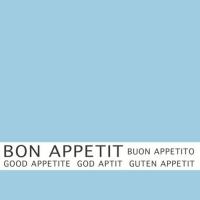 30 Servietten 33x33 cm - Bon Appetit blau