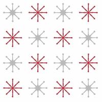 20 Servietten 33x33 cm - Julstjärna Vit