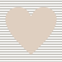 30 Servietten 33x33 cm - Hearty taupe