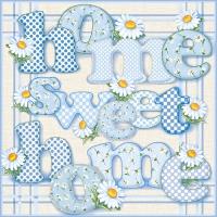 20 Servietten 33x33 cm - Home Sweet Home
