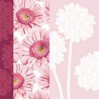 20 Servietten 33x33 cm - Flower Silhouette