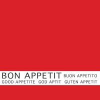 30 Servietten 33x33 cm - Bon Appetit rot