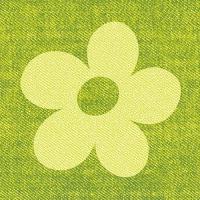 30 Servietten 33x33 cm - Bloomy limonengrün