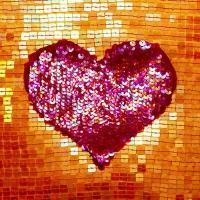 20 Servietten 33x33 cm - Sequin Heart