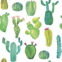 20 Servietten 33x33 cm - Kaktus