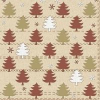20 Servietten 33x33 cm - Winter Forest