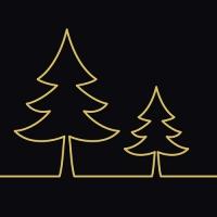 20 Servietten 33x33 cm - Tree Graphics schwarz
