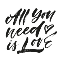 20 Servietten 33x33 cm - All you need is Love