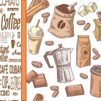 20 Servietten 33x33 cm - Coffee Time