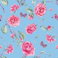 20 Servietten 33x33 cm - Pink Roses