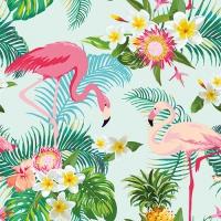 20 Servietten 33x33 cm - Exotic Flamingos