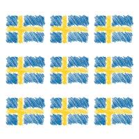 20 Servietten 33x33 cm - Sverigeflagga