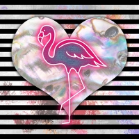 20 Servietten 33x33 cm - Flamingo Heart