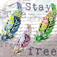 20 Servietten 33x33 cm - Stay always free