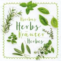 20 Servietten 33x33 cm - Mixed Herbs
