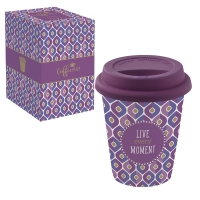 Porzellan Mug To-Go 220ml - LIVE EVERY MOMENT