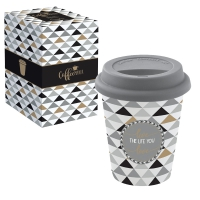 Porzellan Mug To-Go 220ml - LIVE THE LIFE YOU LOVE