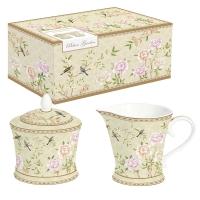 Milchkanne + Zuckerdose - Palace Garden floral