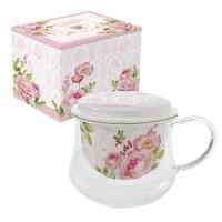 Porzellan-Tasse - Floral Damask