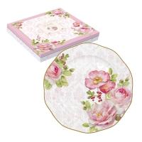 Porzellan-Teller 19cm - Floral Damask
