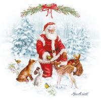 Servietten 33x33 cm - Christmas Carol