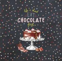 Servietten 33x33 cm - Hot Chocolate