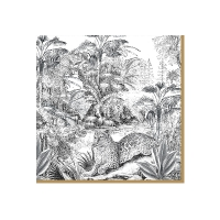 Servietten 33x33 cm - Retro Jungle