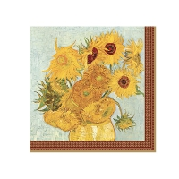 Servietten 33x33 cm - Vase with twelve sunflowers