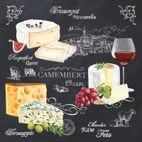 Servietten 33x33 cm - WORLD OF CHEESE