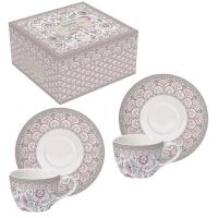 Porzellan-Tasse - Kalamkari pink