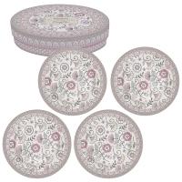 Porzellan-Teller 19cm - Kalamkari pink