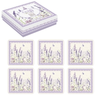 Kork Untersetzer - Lavender Field