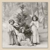 Servietten 33x33 cm - Weihnachtsengel