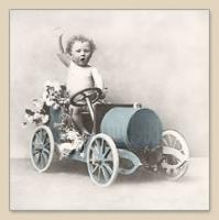 Servietten 33x33 cm - BOY IN CAR