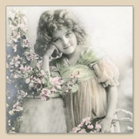 Servietten 33x33 cm - FLOWER GIRL