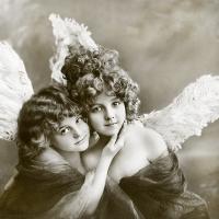 Servietten 33x33 cm - Vintage Engel