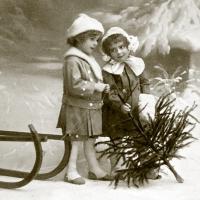 Servietten 33x33 cm - Weihnachtsmädchen