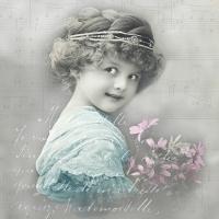 Servietten 33x33 cm - Turquoise Girl