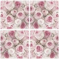 Servietten 33x33 cm - Decoupage Roses