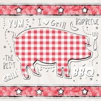 Linclass Dinner Servietten BBQ-Grillfest