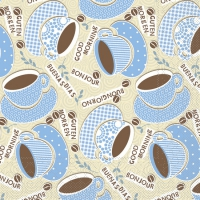 Tissue Lunch Servietten - KAFFEE OLE Champ. / blau